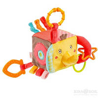 """Подвесная игрушка Развивающий куб на кольце Fehn подвесная игрушка - развивающий куб """"Слоненок"""" / Activity Cube Elephant - Safari™"""