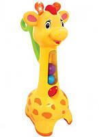 Игрушка-каталка Kiddieland Аккуратный жираф, свет, звук