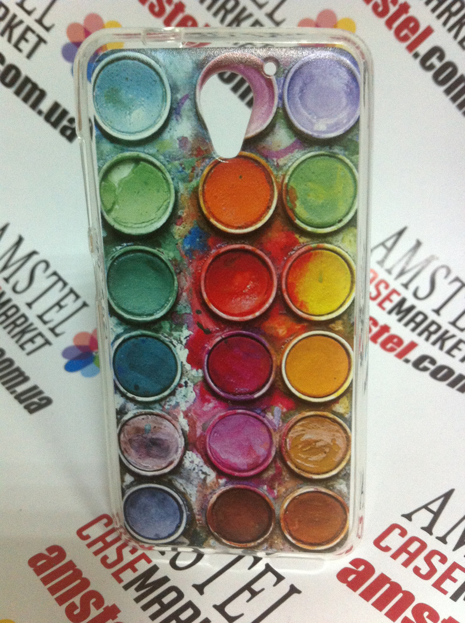 Чехол силиконовый бампер для ZTE Blade A510 с рисунком Краски