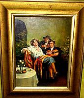 Картина «Весёлая троица» Р. Анисфельд 1-я пол.ХХ-века