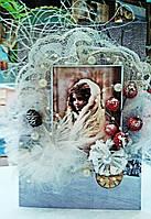 """Открытка новогодняя """"Винтаж"""" Подарок на новый год , фото 1"""