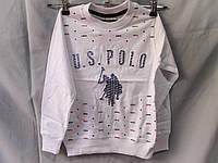 Свитшот детский оптом белый Polo, рост 110-140 см, разные цвета