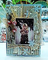 Новогодние открытки в Эко стиле. Подарки на новый год, фото 1