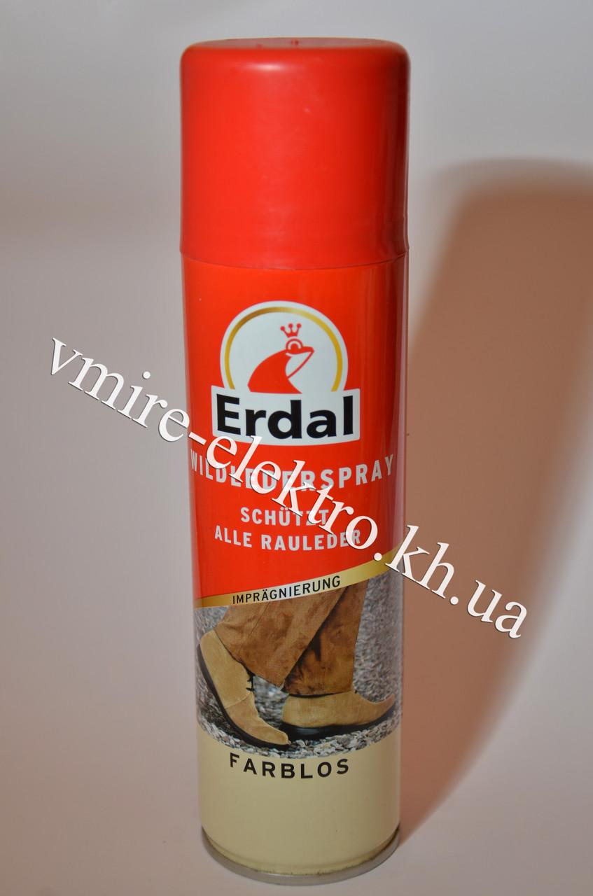 Фарба для замші, нубука та велюру аерозоль безбарвна Erdal 250 мл