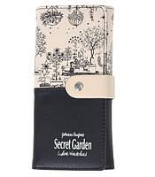 Кошелек женский с рисунком Secret Garden
