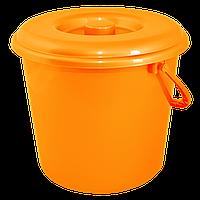 Ведро цветное 14л Оранжевый