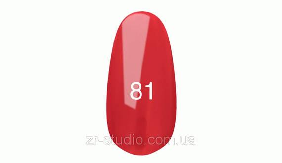 Гель лак Kodi professional 7мл. №81 (Спелая малина. Эмаль)