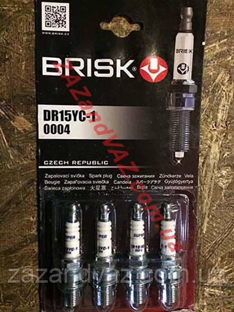 Свічки запалювання BRISK DR15YС-1 ВАЗ 2109-21099 2110-2112 16 кл