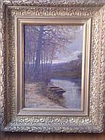 Картина Пейзаж у озера, Гурьев И.П. 1903 год