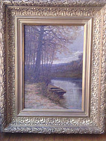 Картина Пейзаж у озера Гурьев И.П. 1903 год