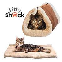 Домик-лежанка для собак и кошек Kitty Shack 2 in 1 tunnel bed & mat, домик для животных