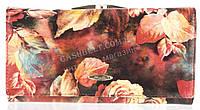 Кожаный вместительный женский кошелек SALFEITE art.2460-D30 цветы, фото 1