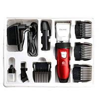 Машинка для стрижки волос Kemei KM 3902, 4 насадки, съемный аккумулятор, щетка для чистки, профессиональная