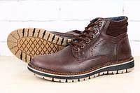 Ботинки мужские кожаные, коричневые