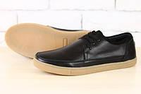 Мокасины мужские черные кожаные