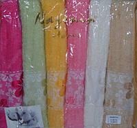Комплект банных махровых полотенец Nazenin Home Хлопок - 70x140 см (6шт.)