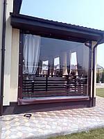 Прозрачные ПВХ шторы для веранды