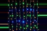 Різнобарвна гірлянда Бахрома 220 LED (3 м. ширина 0.65 див.), фото 2