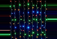 LED гирлянда Бахрома 3 метра 300 лампочек - гирлянда мультицвет