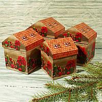 Новогодняя подарочная подарочная коробка SS 1816 (4 шт.)