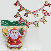 """Растяжка """"Дед Мороз"""" 2,4м, укр.надпись"""