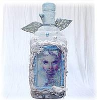 """Подарок на новый год 2018 декоративная бутылка """"Frozen"""""""