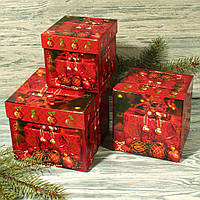 Новогодняя подарочная коробка S 1822 (3 шт.)