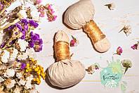 Набір трав'яних мішечків для масажу тіла (2 шт. + олійка)