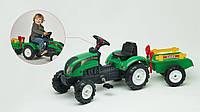 Трактор педальный с прицепом и аксессуарами Ranch Trac Falk зеленый