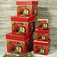 Новогодняя подарочная коробка S 1821 (6 шт.)