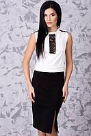 Красивый женский костюм юбка и блуза IR Домино
