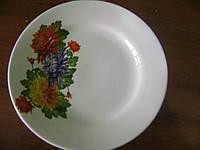Тарелка д175мм деколь хризантема Украина