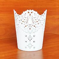 Кашпо пластиковое для орхидей, 18х15 см