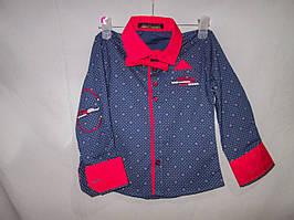 Рубашка детская оптом для мальчика 1-4 года, цветная, с галстуком-бабочкой, цвет разный