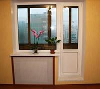 Балконный блок Millenium дверь 700*2100 и окно 1300*1400 глухое