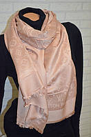 Шарф палантин в стиле Louis Vuitton (Луи Витон) персиковый
