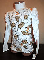 Водолазка для девочек с леопардовыми вставками, 116-152 см
