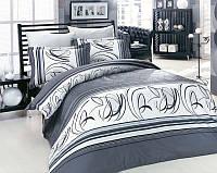 Комплект постельного белья семейный сатин люкс Altinbasak Rixos gri