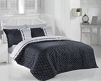 Комплект постельного белья сатин люкс Altinbasak семейный Bonny siyah