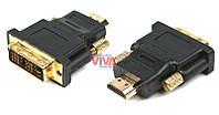 Переходник HDMI-DVI Cablexpert A-HDMI-DVI-1 (gold)