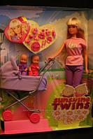 Кукла Штеффи на прогулке с близнецами, Steffi Love Sunshine Twins, Simbа