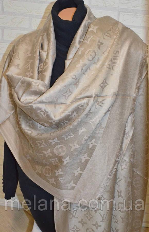 Шарф палантин в стиле Louis Vuitton (Луи Витон) капучино - Интернет-магазин  женской 29c653612eb