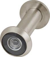 Глазок дверной, стеклянная оптика DVGU, 28/65х90 SN Мат.никель