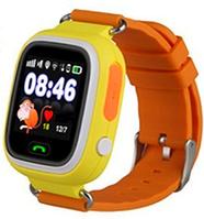 Детские телефон-часы Q100 c Wi Fi и GPS Orange, (оригинал)