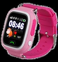 Детские телефон-часы Q100 c Wi Fi и GPS Pink, (оригинал)
