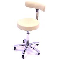 Стульчик мастера СН-810 cream (светло-бежевый) для маникюра, для педикюра, для косметолога