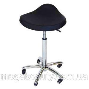 Стульчик мастера СН-825Н  black (черный) высота стульчика от 70 см для маникюра, для педикюра, для косметолога