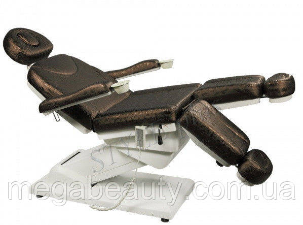 Педикюрное кресло-кушетка с 3-мя электроприводами 848-3А, цвет коричневый