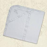Крыжма для крещения двойная с вышивкой Махра 75х80см Белый / Молочный цвет Бетис