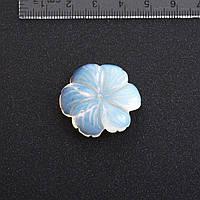 Фурнитура Цветок натуральный камень 2,9 см Лунный камень